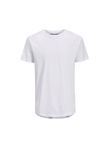 Jack & Jones Jjecurved Tee Ss O-Neck N Erkek Kısa Kol T-Shirt Beyaz